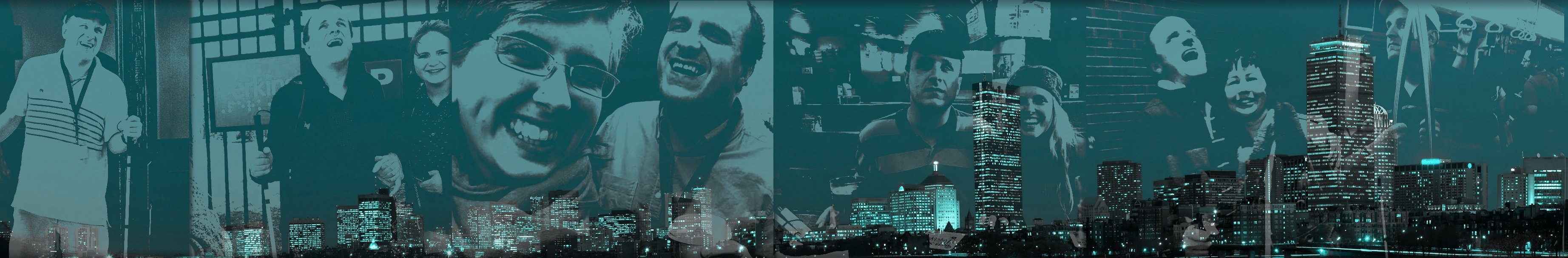 ianperrault.com header image which features a collage of photos of Ian Perrault with friends blended into the Boston skyline.