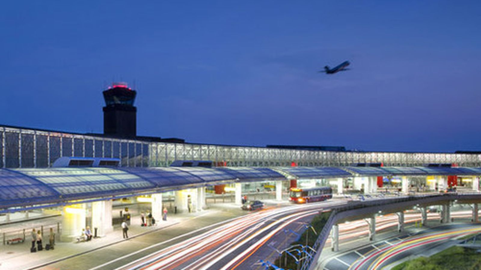 A photo of Baltimore-Washington at dusk. In the background a photo is taking off. In 2010 BWI was ranked as the best airport of its size (15–25 mil. passengers) in the world by the Airports Council International based on its 2009 Airport Service Quality survey. The airport also won second place for North American airports in the
