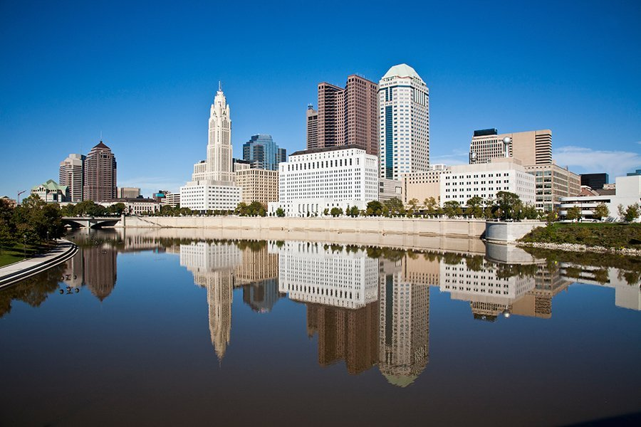 Photo of Columbus Ohio Skyline: Columbus is the capital and largest city of the U.S. state of Ohio. It is the 15th largest city in the United States, with a population of 850,106 (2015 estimate). It is the core city of the Columbus, OH Metropolitan Statistical Area (MSA), which encompasses a ten county area. It is Ohio's third largest metropolitan area, behind Cleveland and Cincinnati.