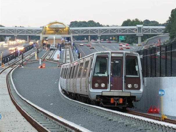 Silver Line is a 23-mile extension of the Metrorail system with new tracks extending from East Falls Church, through Tysons and Reston, and eventually to Washington Dulles International Airport and further west to Ashburn.