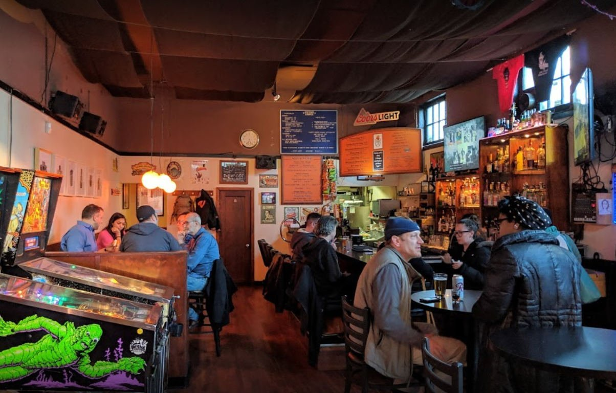 A photo of the interior of the Victory Lounge in Seattle.