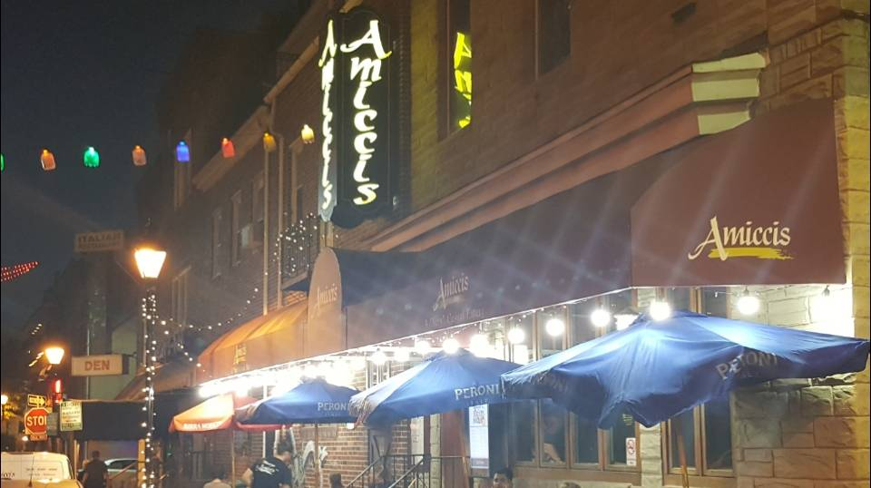 Exterior photo of Amicci's of Little Italy restaurant. Amicci's, family owned and operated since 1991, is a Casual Eatery & Bar located in Baltimore's Little Italy, offering great food at great prices! Amicci's serves the freshest seafood and pasta dishes in Baltimore.
